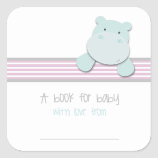 Little Hippo - Book for Baby {Pink} | Bookplates