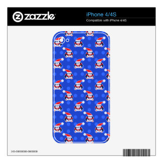 Little Holiday Penguin Pattern Decals For iPhone 4S