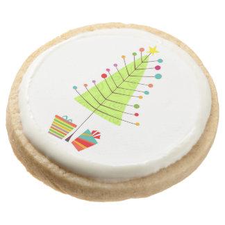 Little Holiday Tree Round Premium Shortbread Cookie