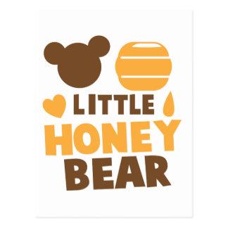 Little Honey Bear with Honey pot cute Postcard
