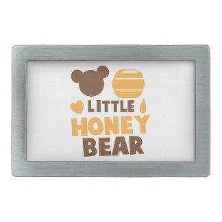 Little Honey Bear with Honey pot cute Rectangular Belt Buckle