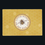 "Little Honey Bee Placemat<br><div class=""desc"">These adorable little honey bee placemats are perfect for any bee lover.</div>"