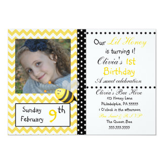 Little Honey Chevron Invitation