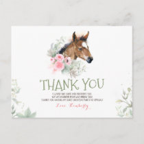 Little Horse Birthday Thank You Postcard