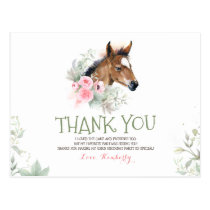Little Horse Birthday Thank You Postcard