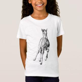 Little Horse: Colt: Running: Pencil Drawing T-Shirt