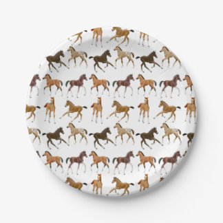 Little Horse Foals Paper Plates 7 Inch Paper Plate