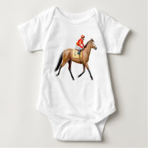 Little Horse Racer Infant One Piece Baby Bodysuit