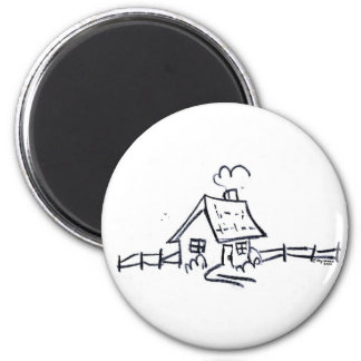 LittLe hOuSe 2 Inch Round Magnet