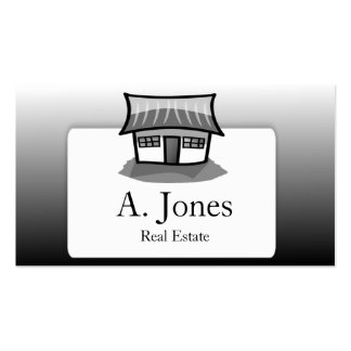 Little House Contemporary Real Estate Business Card Template