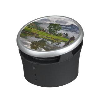 Little House in Mist on Lake Bluetooth Speaker