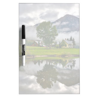 Little House in Mist on Lake Dry Erase Board
