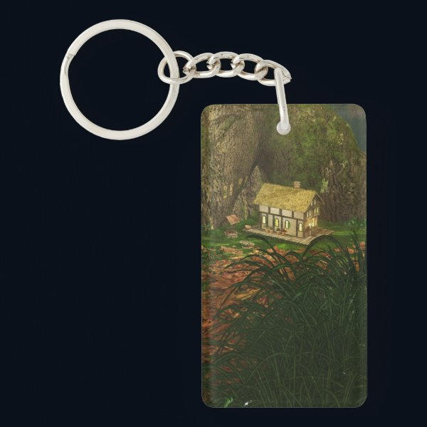 Little House in the Big Woods Acrylic Keychain