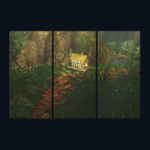 Little House in the Big Woods Canvas Print
