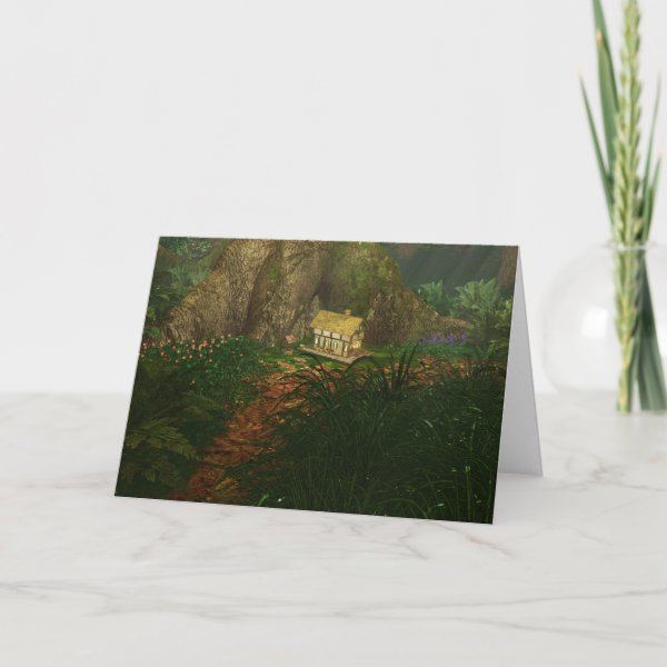 Little House in the Big Woods Card
