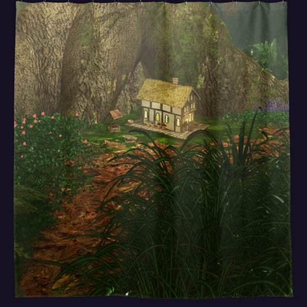 Little House in the Big Woods Shower Curtain