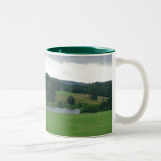 Little House in the Distance Two-Tone Coffee Mug