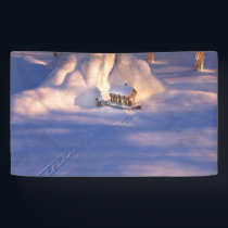 Little House in the Snow Banner
