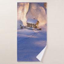 Little House in the Snow Bath Towel Set
