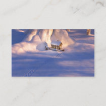 Little House in the Snow Bookmarks Business Card