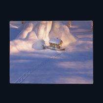 Little House in the Snow Doormat