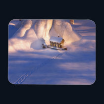 Little House in the Snow Flexible Magnet