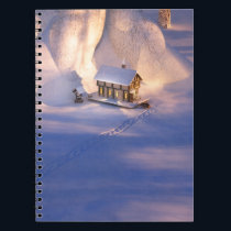 Little House in the Snow Notebook