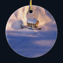 Little House in the Snow Ornament