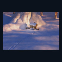 Little House in the Snow Print