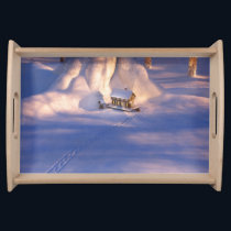 Little House in the Snow Serving Tray