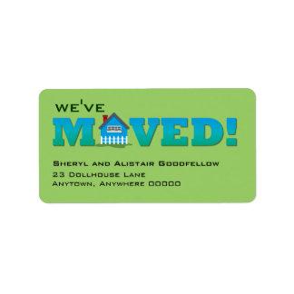 Little House Moving Announcement Label