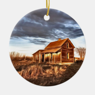 Little House on the Prairies Ceramic Ornament