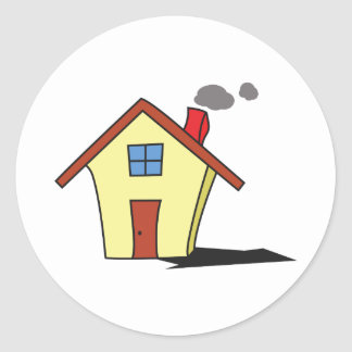 LITTLE HOUSE ROUND STICKERS