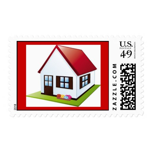 little-house-with-garden1 postage stamps