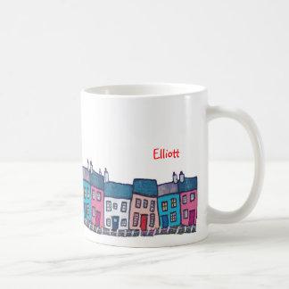Little Houses on a Hillside Coffee Mug