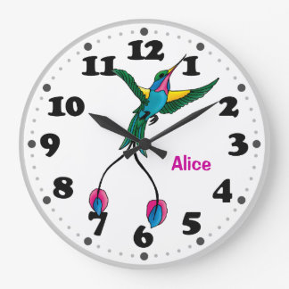 Little Hummingbird Large Clock