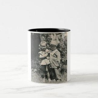 little indian and a girl mug