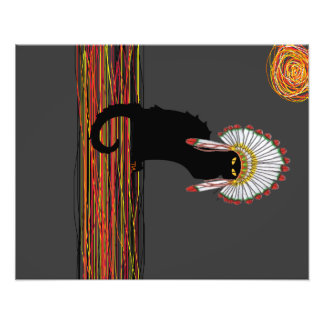 little Indian chief kitty cat Photograph
