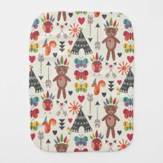 Little Indians Burp Cloth