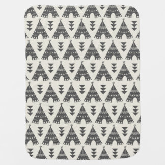 Little Indians-Gray Teepee Baby Blanket