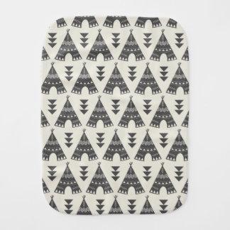 Little Indians-Gray Teepee Burp Cloth