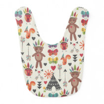 Little Indians Reversable Baby Bib
