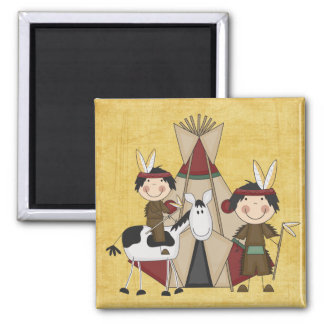 Little Indians Teepee Horse Fridge Magnet