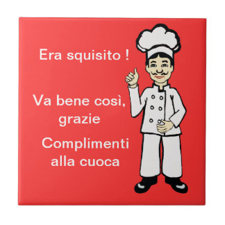 Little Italian chef Ceramic Tile
