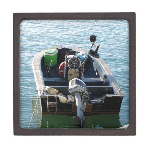 Little italian fishing boat on the sea premium gift box for Fishing gift box