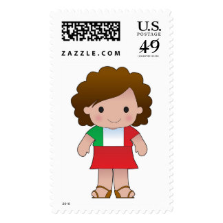 Little Italian Girl Postage Stamp