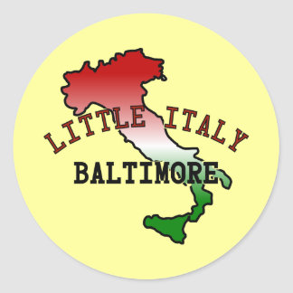 Little Italy Baltimore Classic Round Sticker
