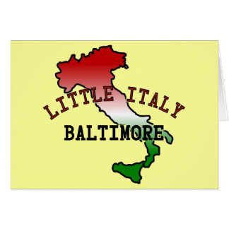 Little Italy Baltimore Greeting Card