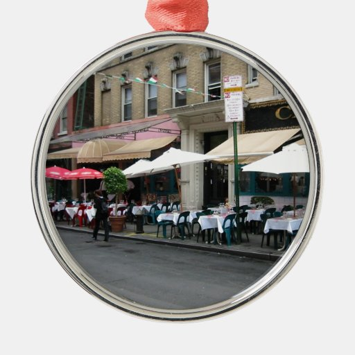 Little Italy Cafe Metal Ornament