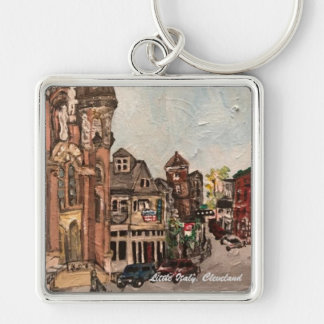 Little Italy, Cleveland Painting Key Chain